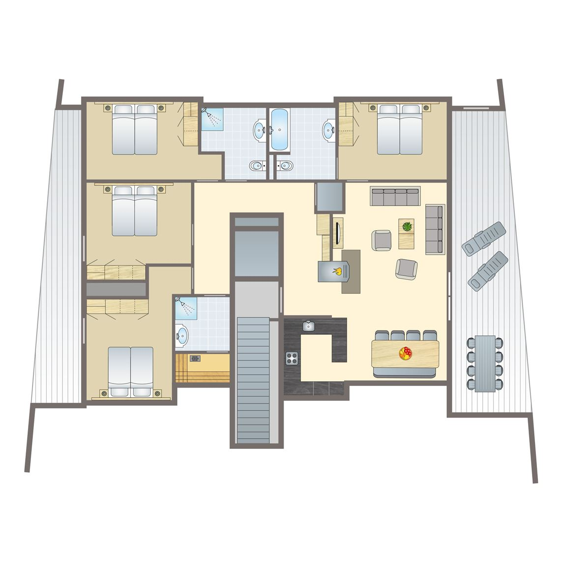 8-persoons penthouse