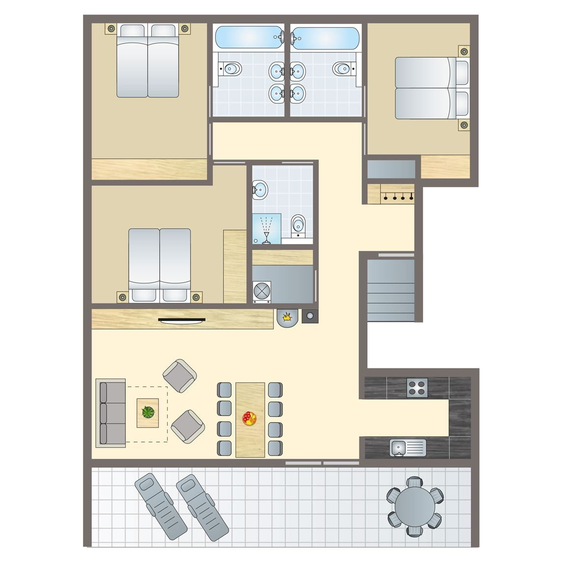8-persoons appartement
